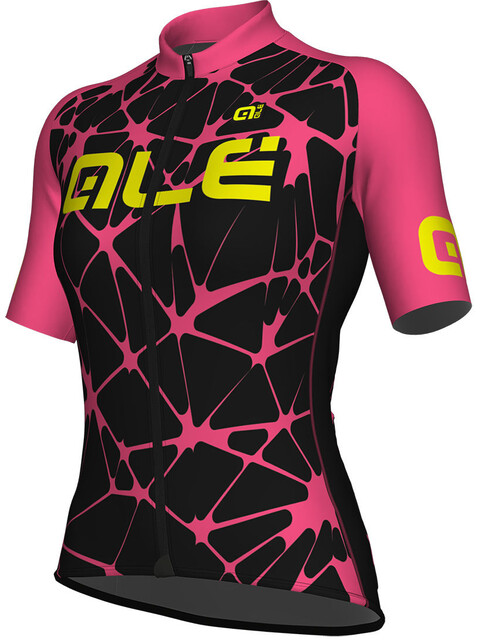 Alé Cycling Solid Cracle Short Sleeve Jersey Women black-fluo pink